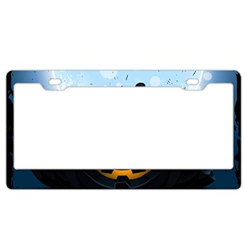 (ASUIframeNJK Halloween Pumpkin Pattern dark1 License Plate Frame Glitter Waterproof License Plate Covers Cute Car Tag)