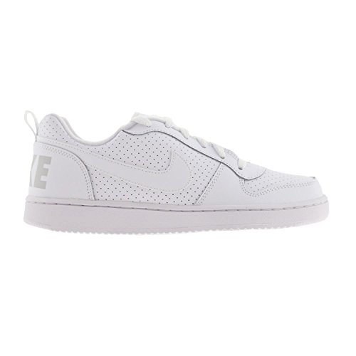 Nike Court Borough Low (GS), Zapatillas de Baloncesto Unisex Niños Blanco (White / White-White)