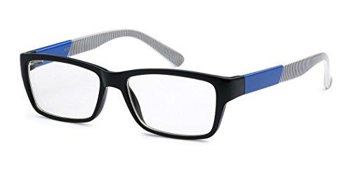 Nerd Rectangle Clear Lens Fashion Sunglasses RX Designer Eye - Nerd Sale Glasses For