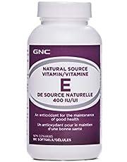 GNC Vitamin E 400IU, 180 Softgels, Antioxidant Promoting Good Health