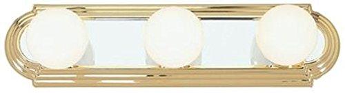 Livex Lighting 1143-25 Basics 3-Light Bath Light, Polished Brass - Brass Vanity Light Polished Three