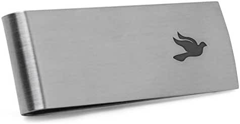 Dove Money Clip   Stainless Steel Money Clip Laser Engraved In The USA.