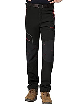 King Shield Men's Mountain Windproof Ski Pants Soft Shell Pant