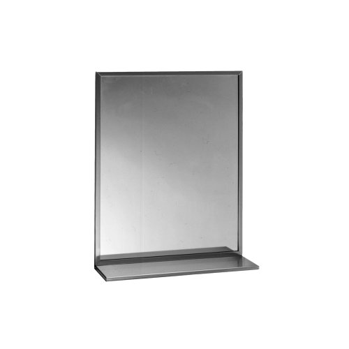 Bobrick B-166 2436 Channel-Framed Mirror, Stainless Steel