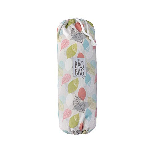 Plastic Bag Holder | Grocery Shopping Bags Carrier | Dispenser | Storage | Organizer. Multiple Designs/Sizes - Leafy Liberation, Large