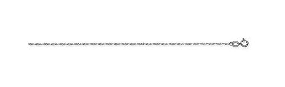 14kt White Gold Singapore Chain Necklace 1.00mm