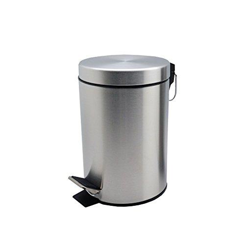Harbour Housewares Bathroom Pedal Bin With Inner Bucket - 3 Litre Bin - Matt (Pedal Bin Matt)