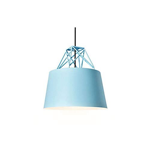 Ho,ney Ceiling Lamp Modern Creative Simple Color Chandelier Living Room Kitchen Bar Restaurant Art Pendant Light - Ceiling Light (Color : Blue) Blue Moon Art Glass Pendant