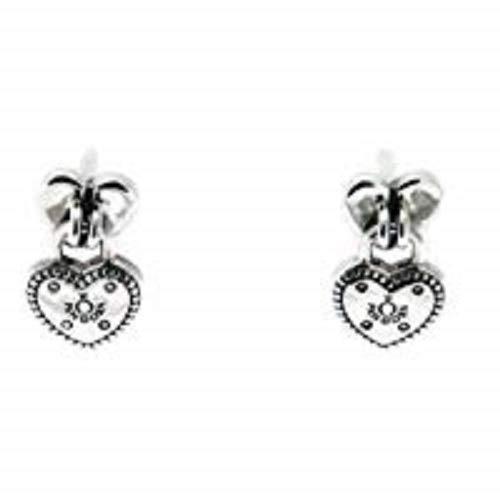 PANDORA Heart padlock earrings, Sterling Silver 296575