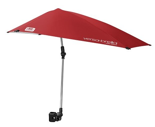 Sport-Brella Versa-Brella 4-Way Swiveling Sun Umbrella (Firebrick Red)