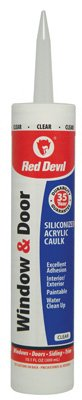 Red Devil 0876 10.1 Oz Clear Window & Door Siliconized Acrylic Caulk by Red Devil