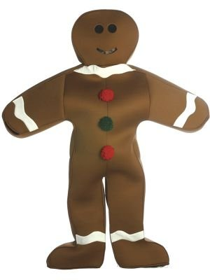 Gingerbread Man Costumes For Adults - Gingerbread Man Costume - One Size - Chest Size