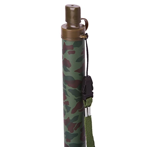 Rockrok Emergency Water Filter, Survival Straw Water Purifier for Hiking Camping