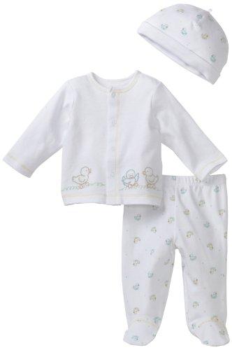 Little Me Unisex-Baby Newborn Quack 2 Piece Pant Set With Hat