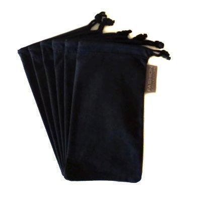 6 PC Sunglass Eyeglass Microfiber Soft Lens Cloth Carry Bag Pouch Case - Lenses For Sun Eyeglasses