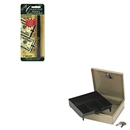 KITDRI351B1PMC04962 - Value Kit - Pm Company Securit Steel Personal Cash/Security Box w/4 Compartments (PMC04962) and Dri-mark Smart Money Counterfeit Bill Detector Pen for Use w/U.S. Currency (DRI351B1)