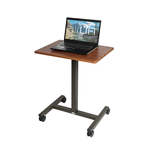 - Seville Classics AIRLIFT Pneumatic Laptop Computer Mobile Desk Cart Height-Adjustable from 29.3