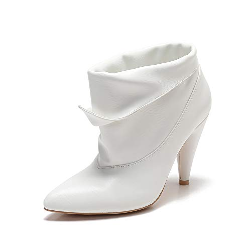 MACKIN J 239B-9 Womens Slouch Ankle Boots Retro Folded(7.5, White)]()