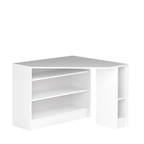 Marca Amazon -Movian Cabriel - Escritorio esquinero, 94 x 94 x 74.1cm (largo x ancho x alto), blanco