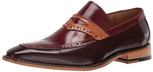 STACY ADAMS Men's Sanhurst Moc-Toe Penny Slip-on Loafer, Brown/Multi 9 M -