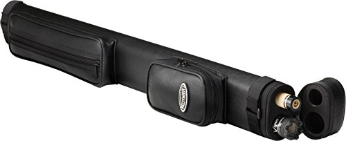 Casemaster Q-Vault Classic Billiard/Pool Cue Hard Case, Holds 1 Complete 2-Piece Cue (1 Butt/1 Shaft) (Hard Cover For Pool Table)