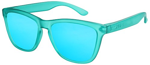 soleil femmes CRUZE® Rétro clair Nerd femme miroir polarisées Vintage de 063 Lunettes 9 transparent mat Vert bleu hommes Style Rétro X unisexe homme aFqwXX