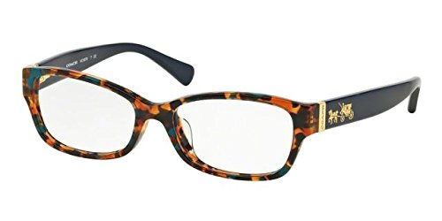 COACH Eyeglasses HC 6078 5337 Teal Confetti/Teal 52MM by Coach