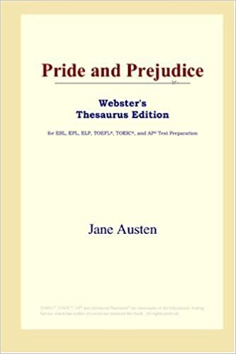 Pride and Prejudice (Websters Thesaurus Edition)