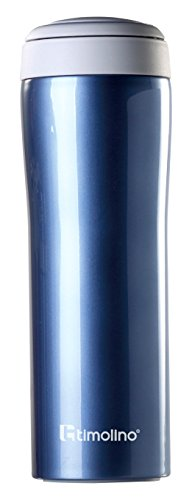 - Timolino Tea2Go Vacuum Mug Grande, 17 oz, Aqua Blue