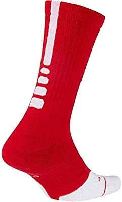 the latest f2f8c 1fc74 Nike Elite Crew 1.5 Team Basketball Socks Large (Men Size 8-12) University  Red, White SX7035-657