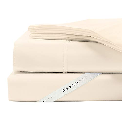DreamFit 4-Degree 400 Thread Count Preferred 100-Percent Egyptian Cotton Sheet Set, Split King, Champagne