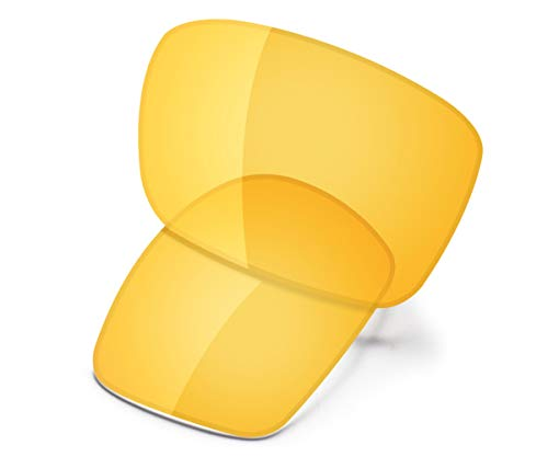 Saucer Premium Replacement Lenses for Oakley Holbrook Sunglasses High Defense - HD Yellow