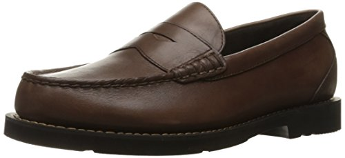 Rockport Men's Shakespeare Circle Penny Loafer- Brown Burnished-14  M ()