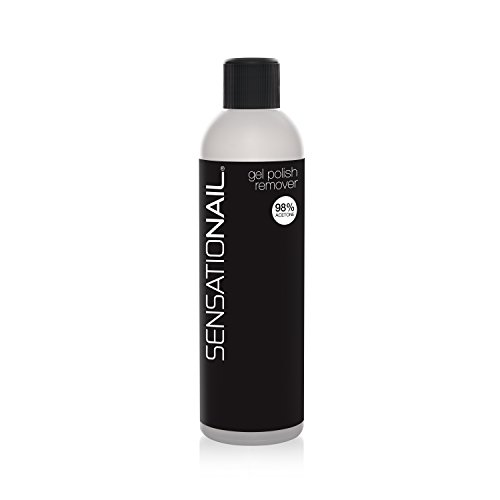 SensatioNail Gel Nail Polish Remover, 8 fl oz, 98% Acetone, Vitamins A & E from Sensationail