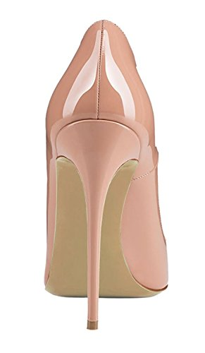 Beige Toe Slip Heels Basic Shoes Party Pointed Womens Stiletto on High Soireelady Wedding Pumps E6aOgqW