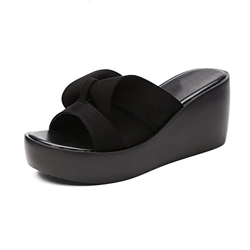 Outerwear Aire With New Moda Al Slope Tacón Slippers Suela Gruesa 2018 Y Tamaño Eu39 1 Libre Summer Alto Flower Lha uk6 1 cn39 Sandalias Ms Bottom De Muffin color q8zctP