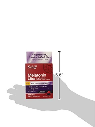 Amazon.com: Schiff Melatonin Ultra with Melatonin 6mg and Theanine 25mg Sleep Aid Supplement, 60 Count: Health & Personal Care