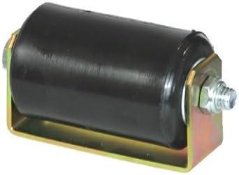 Deslizante, Rolling puerta rodillo guía negro UHMW guía de rodillos puerta corredera de plástico duro de goma con soporte (soporte de soporte para Medidas 3