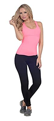 Womens Active 2 Piece Set Criss Cross Back Top and Mid Rise Long Yoga Pants