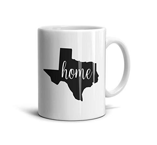 SJKSDVHF White Pattern CeramicTea Mugs Texas State Vinyl Decal Sticker Home