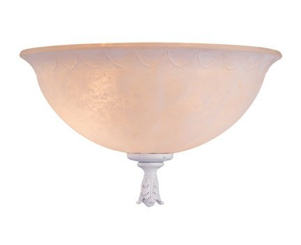 Palazzo Bowl - Palazzo Two Light Bowl Ceiling Fan Light Kit Finish: Textured White