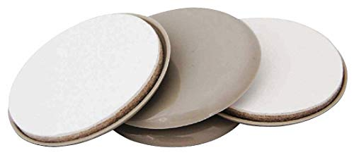 Round Self-Stick Adhesive Furniture Glides, Tan, 1-11/16'' Dia, 4PK - pack of 5 by Unknown (Image #1)