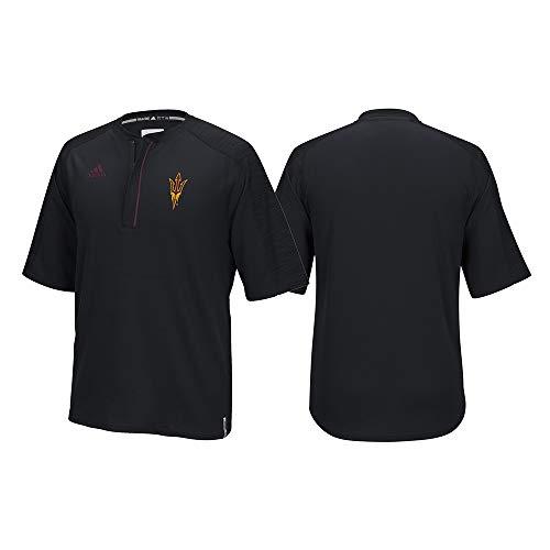 adidas Arizona State Sun Devils NCAA Men's Black Sideline Climalite 1/4 Zip Knit Shirt