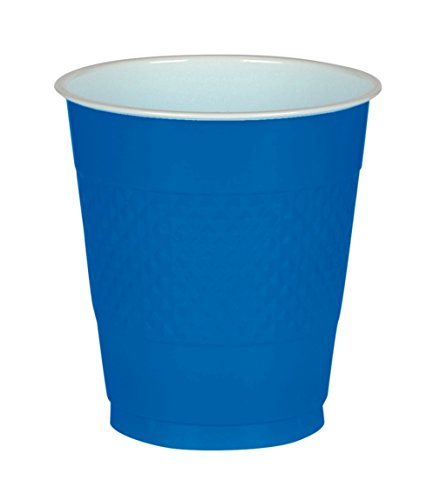 Big Party Pack Bright Royal Blue Plastic Cups | 16 oz. | Pack of 50 | Party Supply -