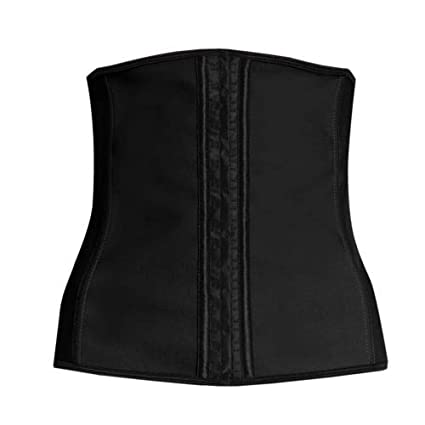 c4e5144bea6 Image Unavailable. Image not available for. Color  Black Corset Body Shaper  Sport Latex Rubber Waist Trainer Cincher Underbust Shapewear Size M Women  Sports