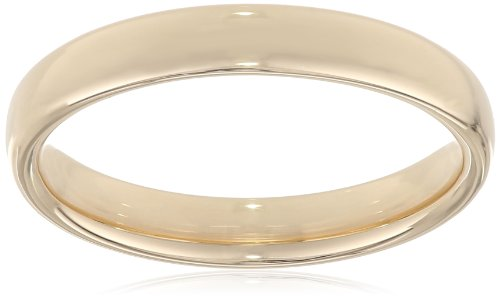 Modern Comfort Fit 14K Gold Wedding Band, 3.5mm