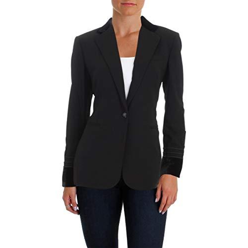 (Lauren Ralph Lauren Womens Dibadlo Cording Decoration Velvet Trim Jacket Black 4)