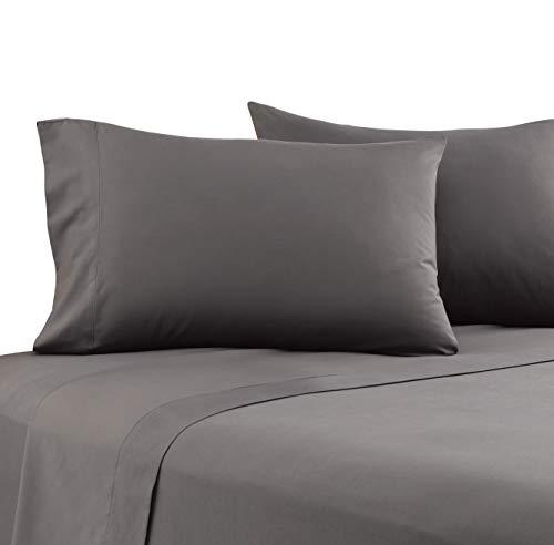 Karalai Bed Sheet Set 1800 Series King Sheets, Deep Pockets, Super Soft Wrinkle Free (4 Pc Dark Gray, King)