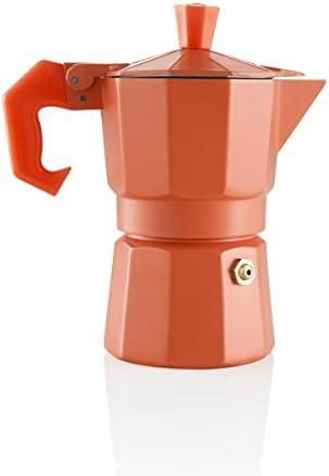 Moka Express cafetera italiana Espresso 1 taza naranja: Amazon.es ...