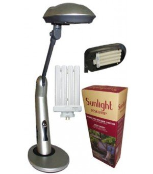 Beau Sunlight Desk Lamp Natural Full Spectrum Sun Light. Simulates Daylight.  150Watt Output Uses 27